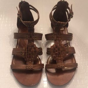 Dolce Vita Brown Leather Sandals 9.5